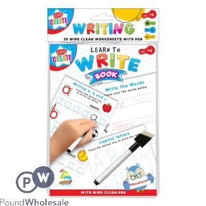 20 EDUCATIONAL A5 WRITE WIPE CLEAN SHEETS WITH PEN