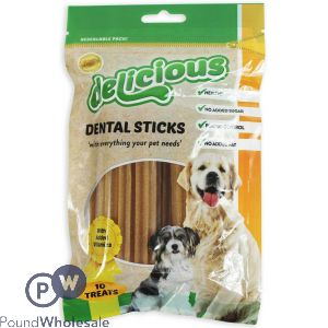 DELICIOUS HEALTHY DENTAL STICKS PACK OF 10