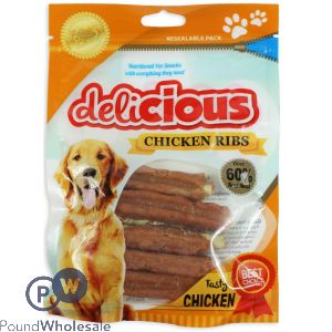 WORLD OF PETS DELICIOUS CHICKEN RIBS DOG TREATS