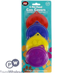 WORLD OF PETS CAN COVERS 4 PACK ASSORTED COLOURS