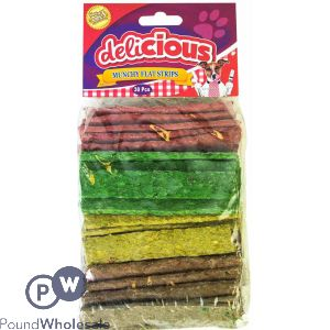 WORLD OF PETS MUNCHY FLAT STRIPS 30 PACK