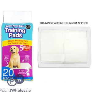 WORLD OF PETS ABSORBENT TRAINING PADS 20 PACK