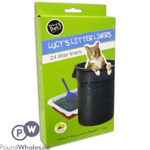 WORLD OF PETS CAT LITTER LINERS 30 X 70CM 24 PACK