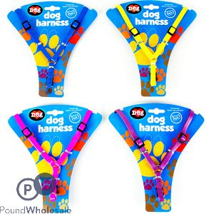 DOG HARNESS ASSORTED COLOURS (1cm x 20-35cm)