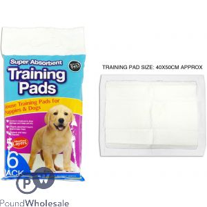 WORLD OF PETS ABSORBENT TRAINING PADS 6 PACK