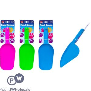 WORLD OF PETS LARGE PET FOOD SCOOP 3 ASSORTED COLOURS