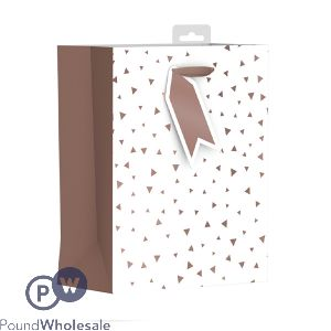 GIFTMAKER ROSE GOLD FOIL DESIGN GIFT BAG MEDIUM